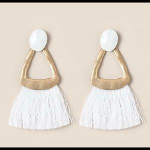 LAST PAIR! Chic geometric tassel earrings